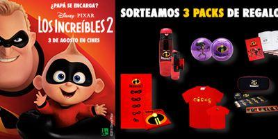 ¡SORTEAMOS 3 PACKS DE REGALOS DE 'LOS INCREÍBLES 2'!