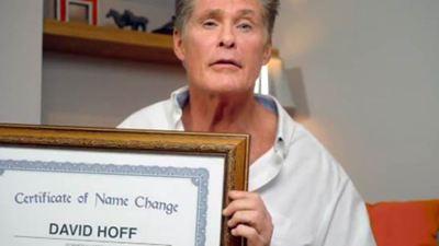 David Hasselhoff dice haberse cambiado el nombre de forma oficial... ¿Hay truco?