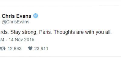 Los actores rinden homenaje en sus redes sociales a París tras los ataques