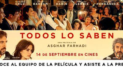 ¡CONOCE AL EQUIPO DE 'TODOS LO SABEN' Y ASISTE A LA PREMIERE EN MADRID!