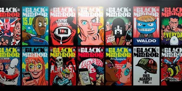 'Black Mirror': Un artista crea portadas de cómics para los episodios de la serie