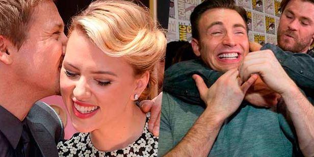 'Vengadores': Divertidas imágenes que demuestran que los actores son amigos en la vida real