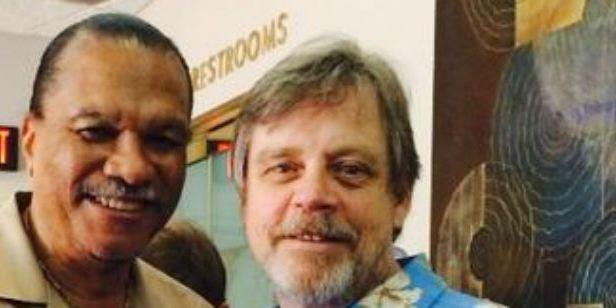 'Star Wars: Episodio IX': Mark Hamill da la bienvenida a Billy Dee Williams