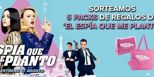 ¡SORTEAMOS 5 PACKS DE REGALOS DE 'EL ESPÍA QUE ME PLANTÓ'!