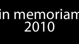 In memoriam 2010