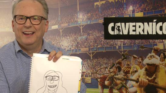 ¡Retamos al director de 'Cavernícola' y 'Wallace & Gromit' a dibujar a una redactora de SensaCine!