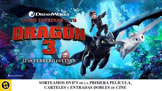 ¡SORTEAMOS 5 PACKS DE 'CÓMO ENTRENAR A TU DRAGÓN 3'!
