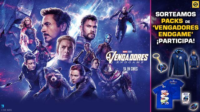 ¡Sorteamos 5 packs de regalos de 'Vengadores: Endgame'!