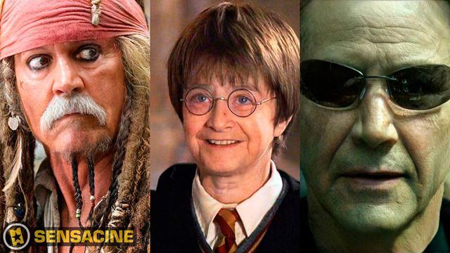 Así envejecerían Neo, Harry Potter, Katniss Everdeen, Aragorn, Jack Sparrow y otros personajes icónicos del cine