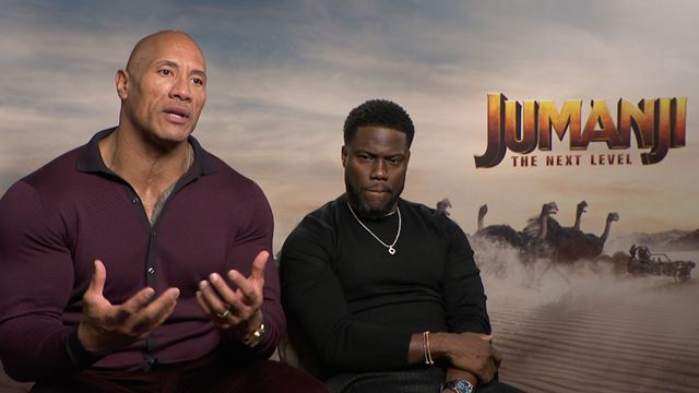 Los protagonistas de 'Jumanji: Siguiente nivel' nos cuentan qué papeles suyos elegirían para pasarse el videojuego