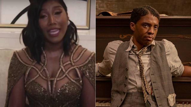 Globos de Oro: El emocionante discurso de la mujer de Chadwick Boseman al recibir el premio póstumo