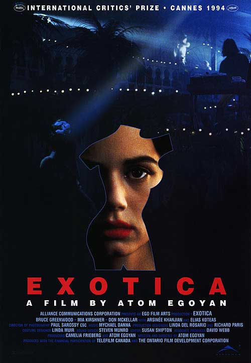 an analysis of exotica by atom egoyan Atom egoyan is one of the most celebrated contemporary filmmakers on the international scene his body of work – which includes theatre, music, and art installations - delves into issues of memory, displacement, and the impact of technology and media on modern life.