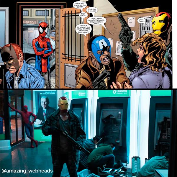 Spider Man Homecoming La Escena Del Robo Que Aparece
