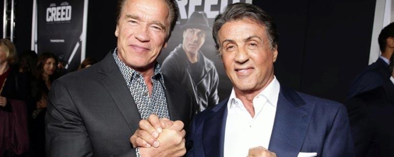 Arnold Schwarzenegger y Sylvester Stallone aprenden a bailar por el cumpleaños del primero