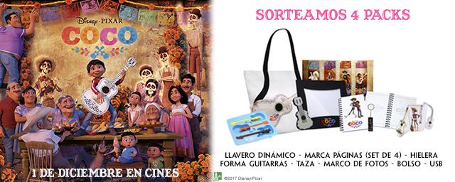¡SORTEAMOS 4 PACKS DE REGALOS DE 'COCO'!