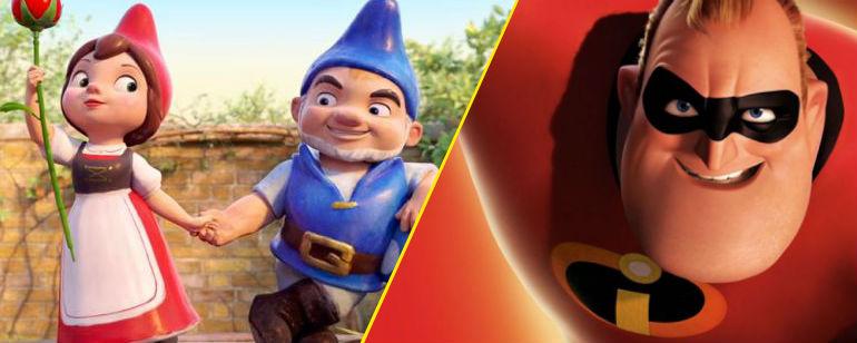 'Los Increíbles 2', 'Sherlock Gnomes' y otras 19 películas de animación que se estrenan en 2018