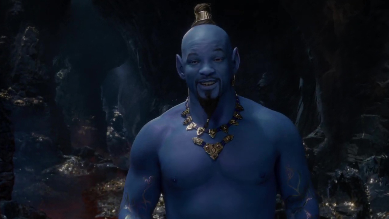 Aladdin': El Genio de Will Smith ya es azul en el nuevo
