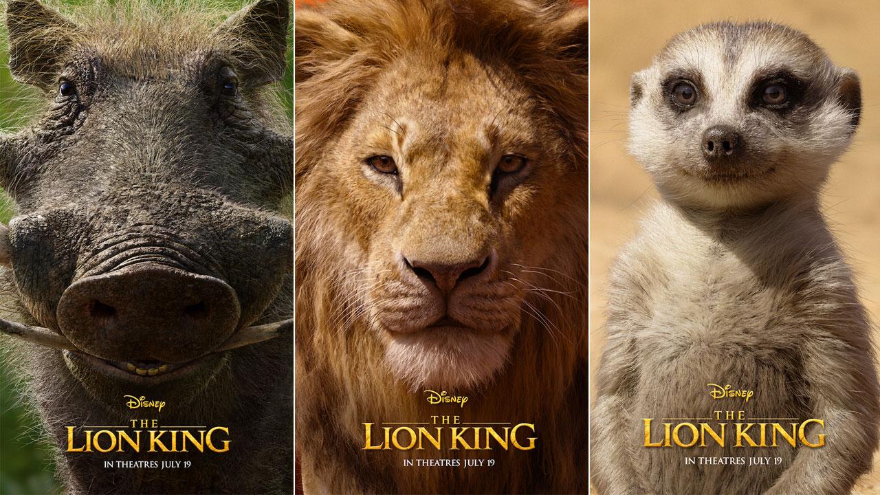 Los nuevos pósters individuales de 'El rey león' de Disney