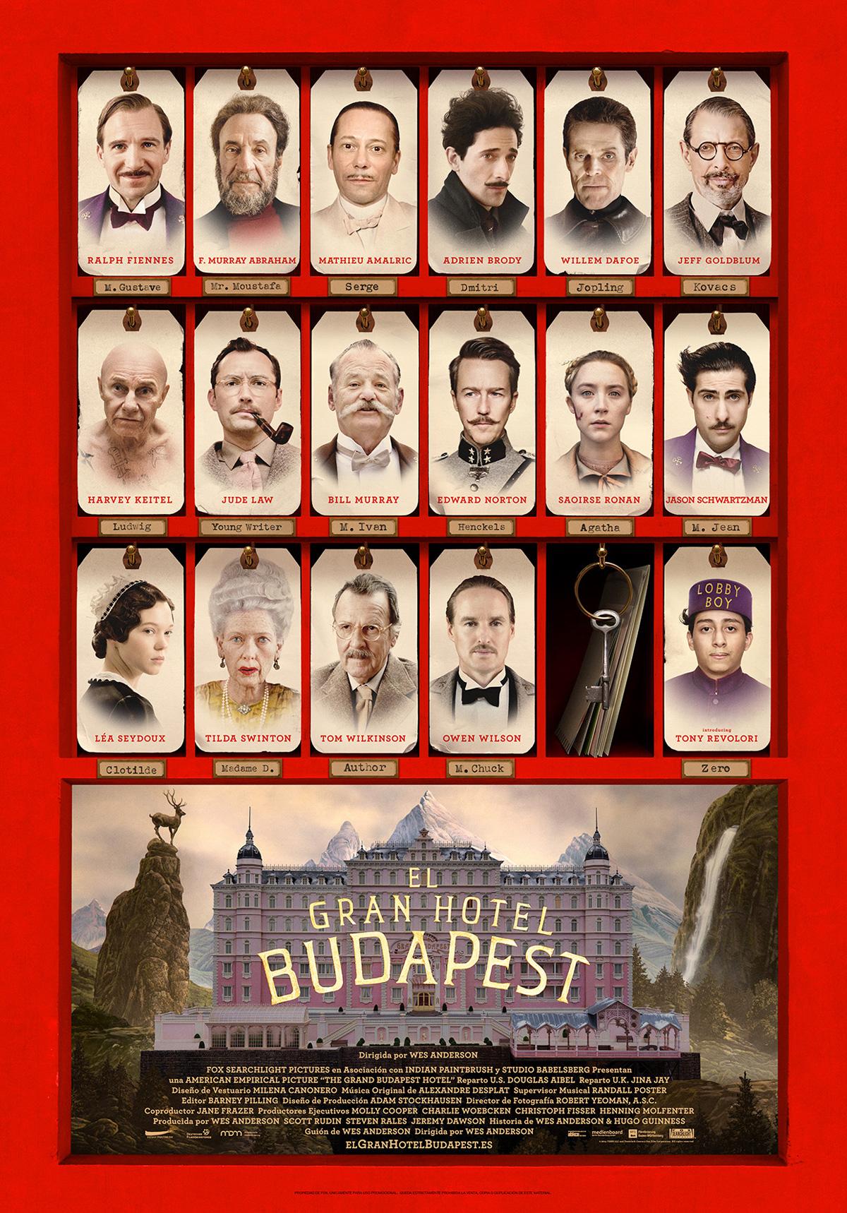 El gran hotel budapest pel cula 2013 for Hotel budapest