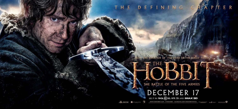 cartel de el hobbit la batalla de los cinco ej233rcitos