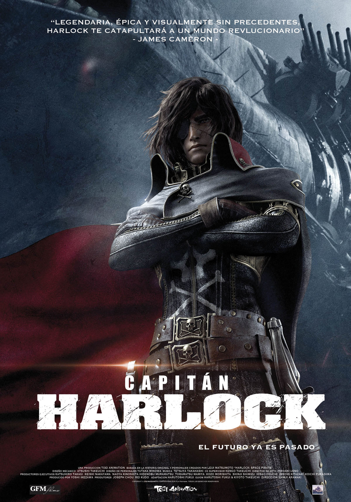 póster capitán harlock