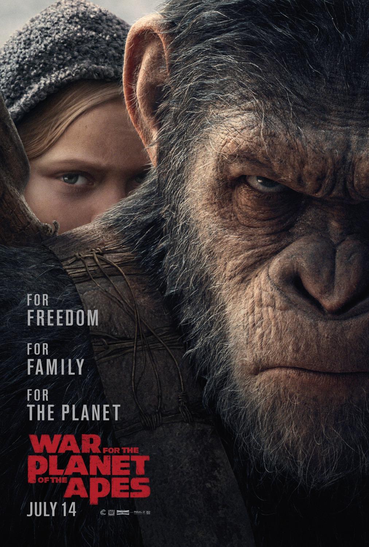 Resultado de imagen de la guerra del planeta de los simios cartel
