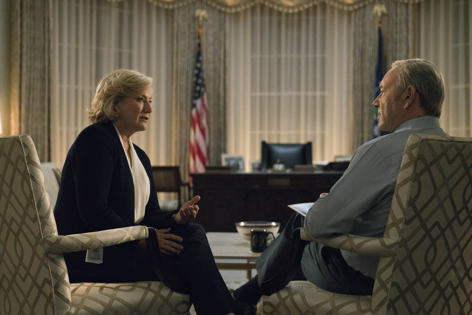 House Of Cards: Foto Jayne Atkinson, Kevin Spacey