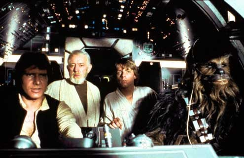 Star wars: Episodio IV - Una nueva esperanza (La guerra de las galaxias) : Foto Alec Guinness, Harrison Ford, Mark Hamill