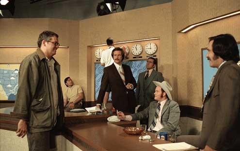 El reportero: La leyenda de Ron Burgundy : Foto David Koechner, Paul Rudd, Steve Carell, Will Ferrell