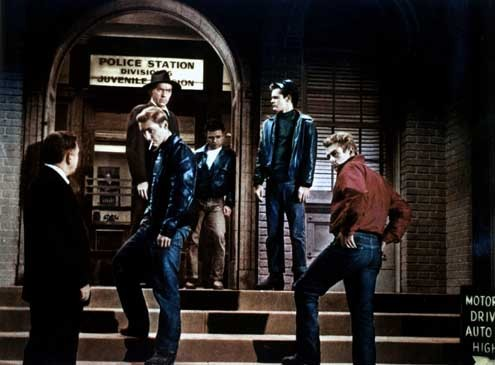 Rebelde sin causa : Foto Dennis Hopper, James Dean, Nicholas Ray