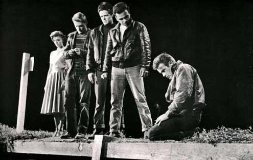 Rebelde sin causa : Foto Dennis Hopper, James Dean, Natalie Wood, Nicholas Ray