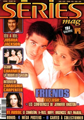 Friends : Couverture magazine David Schwimmer, Jennifer Aniston