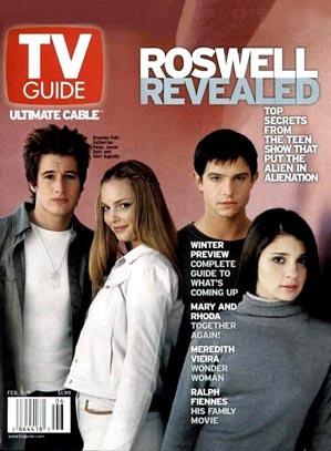 Roswell : Couverture magazine Brendan Fehr, Jason Behr, Majandra Delfino