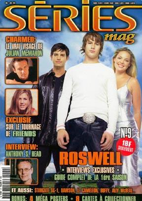Roswell : Couverture magazine Brendan Fehr, Jason Behr, Katherine Heigl