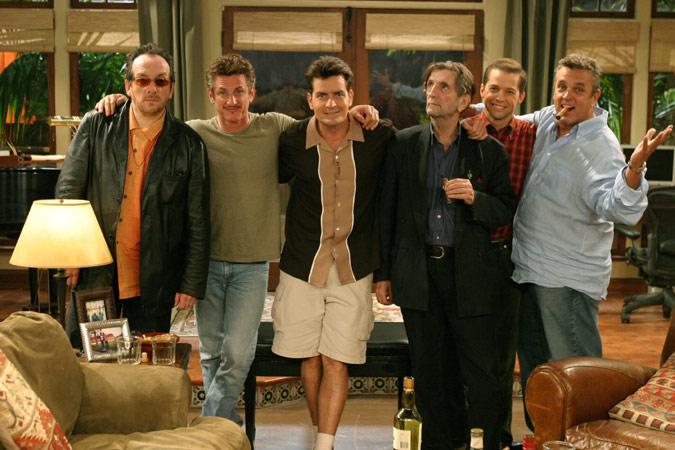 Dos hombres y medio : Foto Charlie Sheen, Elvis Costello, Harry Dean Stanton, Jon Cryer, Sean Penn
