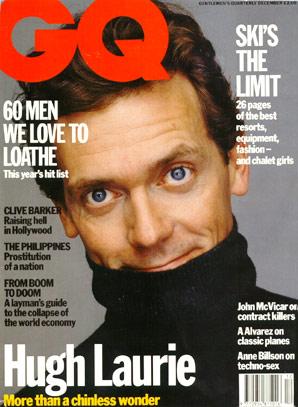 House : Couverture magazine Hugh Laurie