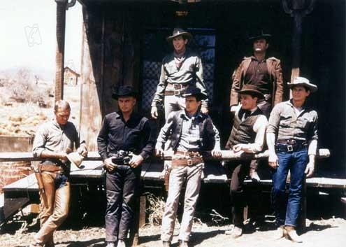 Los siete magníficos : Foto Brad Dexter, Charles Bronson, Eli Wallach, James Coburn, John Sturges