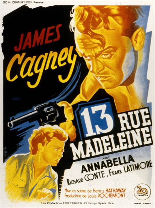 Calle Madeleine nº 13 : Foto Henry Hathaway, James Cagney, Richard Conte