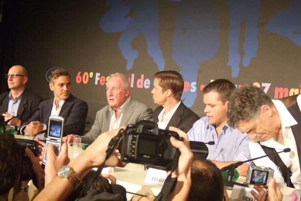 Ocean's 13 : Foto Brad Pitt, Elliott Gould, George Clooney, Jerry Weintraub, Matt Damon