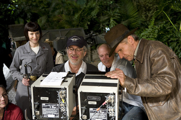 Indiana Jones y el Reino de la Calavera de Cristal : Foto Cate Blanchett, Frank Marshall, Harrison Ford, Steven Spielberg