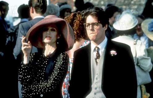 Cuatro bodas y un funeral  Foto Hugh Grant, Kristin Scott Thomas