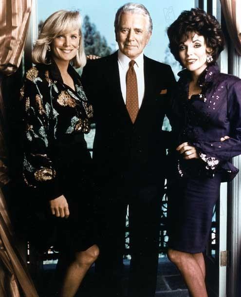 Dinastía : Foto Joan Collins, John Forsythe
