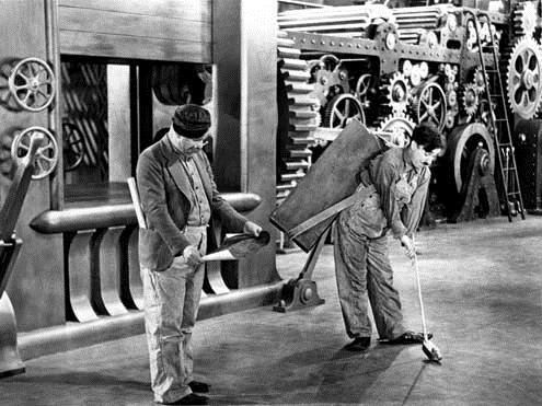Tiempos modernos : Foto Charles Chaplin, Chester Conklin