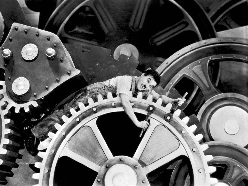 Tiempos modernos : Foto Charles Chaplin