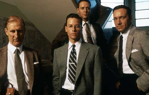 L.A. Confidential : Foto Guy Pearce, James Cromwell, Kevin Spacey, Russell Crowe