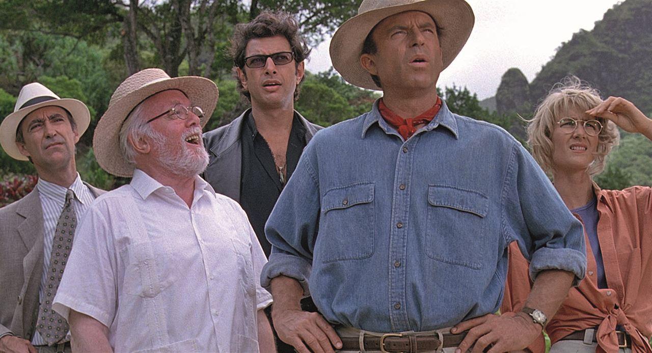 Jurassic Park (Parque Jurásico) : Foto Jeff Goldblum, Laura Dern, Martin Ferrero, Richard Attenborough, Sam Neill