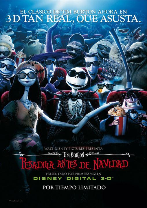 Pesadilla antes de Navidad 3D : cartel