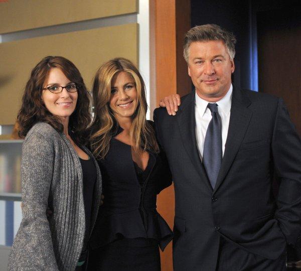 Rockefeller Plaza : Foto Alec Baldwin, Jennifer Aniston, Tina Fey
