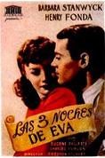Las tres noches de Eva : Cartel