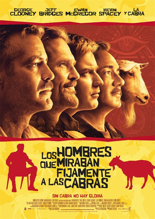 Los hombres que miraban fijamente a las cabras : cartel